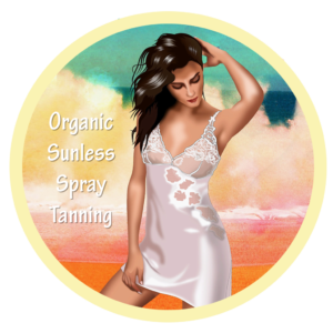 Organic Sunless Spray Tanning Girl